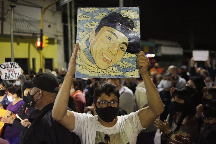 Una marcha para pedir justicia por el crimen de Lucas Cancino.