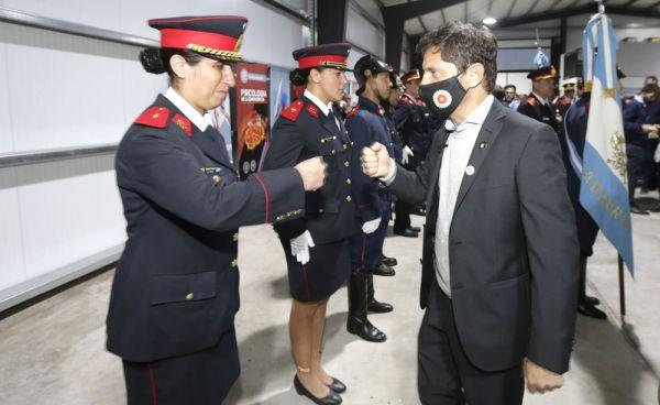 Kicillof anuncio aumento de presupuesto para los bomberos voluntarios.